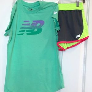 New Balance Athletic Top & Reversible Core Shorts